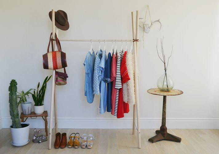 Вешалки для одежды напольные своими руками фото